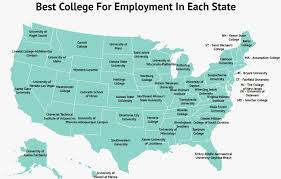 Tcnj Map The Best College In Each State For Getting A Job Zippia