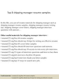 Case Manager Resume Example Top8shippingmanagerresumesamples 150402080757 Conversion Gate01 Thumbnail 4 Jpg Cb U003d1427980135