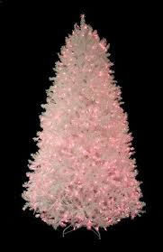 pre lit shimmering white iridescent tree pink