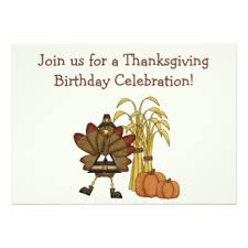 thanksgiving birthday invitations announcements zazzle