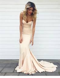 champagne mermaid prom dress simple prom dress elegant prom