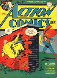 superman punches luthor through a brick wall superdickery
