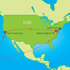Usa East Coast Map Business And Legal Studies East And West Coast Usa