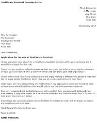 cover letter for health care assistant 8144