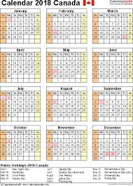 2018 calendar canada 2018 calendar printable