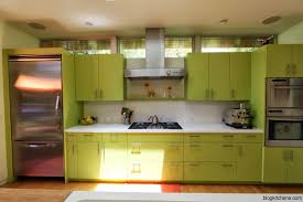 orange and green painted kitchens home design ideas