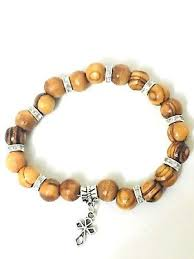 knotted rosary bracelet handmade holy land olive wood knotted rosary bracelet