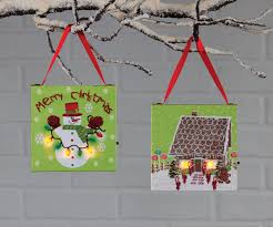 snowman and gingerbread ornament size lighted pictures