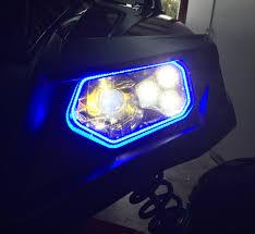 Ford Raptor Headlights - tric led tricrings polaris rzr 800 xp900 led headlight halo ring