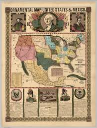 Map Of The United States And Mexico by Ornamental Map Of The United States U0026 Mexico 1847 David Rumsey