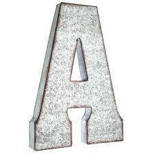 metal letters galvanized metal letter wall decor a hobby lobby 138537
