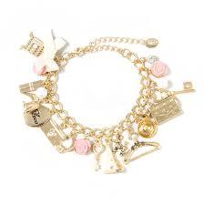 charm bracelet inspired gold charm bracelet s us
