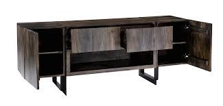 Modern Digs Furniture by Tiburon Media Cabinet Mango Wood Iron Modern Digs Furniture
