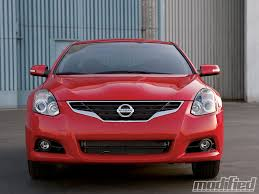 Nissan Altima Coupe Red Interior 2010 Nissan Altima V 6 Coupe Modified Magazine