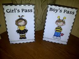 Bathroom Pass Template First Grade O W L S Buzz To The Bathroom Passes