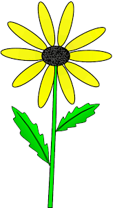 yellow daisy on stem with outline clip art sketch lge 15 u2026 flickr