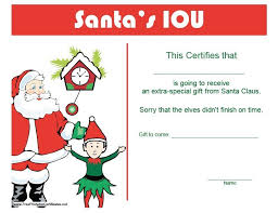 christmas iou template 2017 best template examples