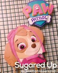 skye cake topper paw patrol cake tutorial cakes