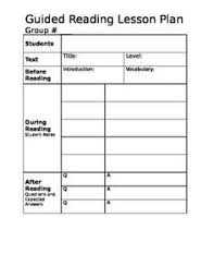 take a closer look at guided reading free lesson plan templates