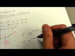 ap calculus exponential growth decay half life youtube