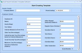 Excel Payroll Calculator Template Excel Payroll Calculator Template Software