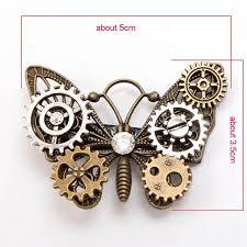 butterfly hair clip gear butterfly hair clip steunk vintage headwear