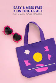 kids craft idea easy and mess free tote bag craft persia lou