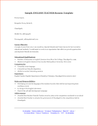Sample Resume For Teaching Profession For Freshers by English Teacher Resume Template Sample Resume Of High