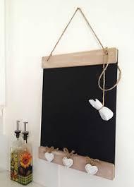 tableau noir cuisine en bois tableau noir rustique cœurs shabby message mémo cuisine