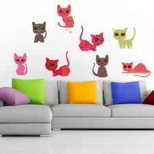 eight horses wall sticker galloping horse decor cats colour wall sticker set