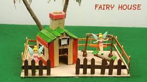 diy fairy house u0026 garden 15 popsicle stick crafts youtube