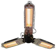 Patio Heater With Light Umbrella Infrared Patio Heater With 3 Heating Heads Traditional