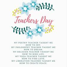 happy teachers day greetings cards with messages poems quotes