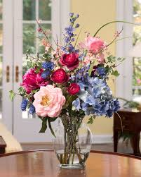 silk flower arrangements decorate with painter s palette silk flower arrangement at petals