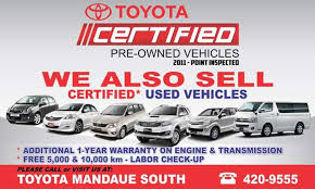 toyota certified pre owned cars toyota cebu used vehicles home