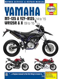 yamaha wr125r wr125x haynes manual repair manual workshop manual