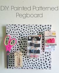 Cool Pegboard Ideas Painted Patterned Pegboard