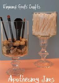wayward girls u0027 crafts apothecary jars in the bathroom