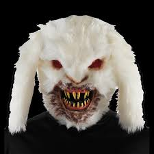 Halloween Monster House Creepy Horror Rabid Bunny Killer Rabbit Mask Halloween Monster