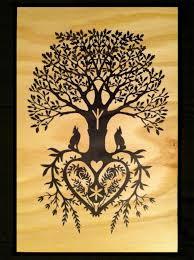 german paper cutting patterns tree of wood print