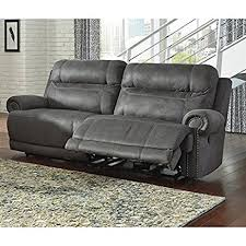 Brown Leather Recliner Sofas Austere 2 Seat Faux Leather Reclining Sofa In