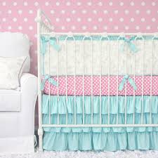 Pink And Black Crib Bedding Sets Damask Baby Crib Bedding Caden