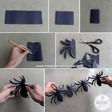 home made halloween decorations how to make spider garland these are the best homemade halloween
