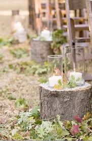 Fall Wedding Aisle Decorations - 50 tree stumps wedding ideas for rustic country weddings deer