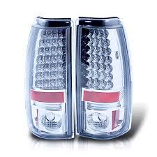 2000 chevy silverado tail light assembly spyder chrome housing euro led tail lights for chevy silverado 1500