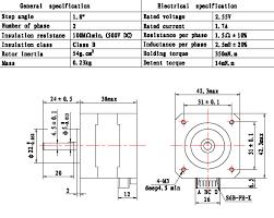 nema17 17 stepper motor 36oz in 2600g cm 3d printer reprap medel