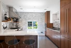 Floating Kitchen Island Straight Long Floating Kitchen Cabinets Mixed L Shaped Kitchen