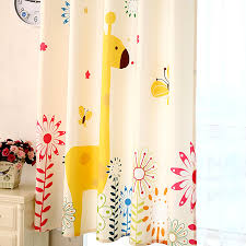 Yellow Nursery Curtains Helen Curtain Giraffe Window Curtains Yellow Baby