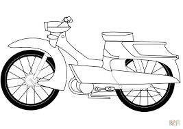 moped coloring page free printable coloring pages