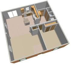 Backyard Apartment Floor Plans Backyard Cottage 447 Floor Plan